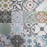 Mẫu gạch bông tổng hợp - Patchwork tông màu ngẫu nhiên