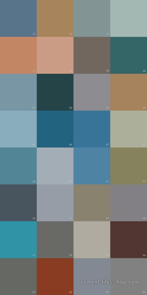 Bảng màu gạch bông 2017